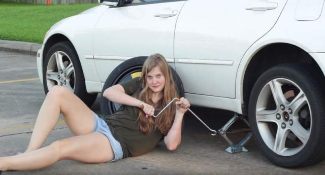 A Women's Guide to Changing a Tire
