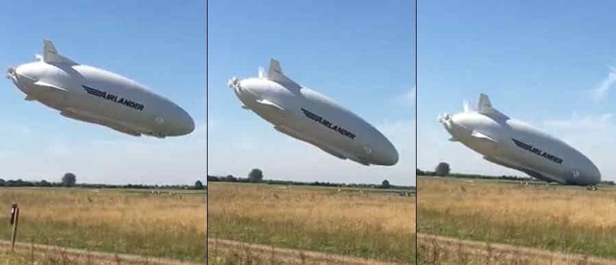 Airlander 10 crashing into the ground 1