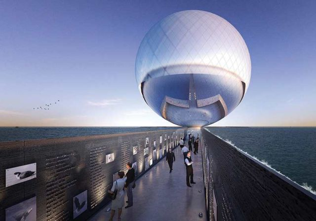 Clear Orb Sculpture will provide energy and water