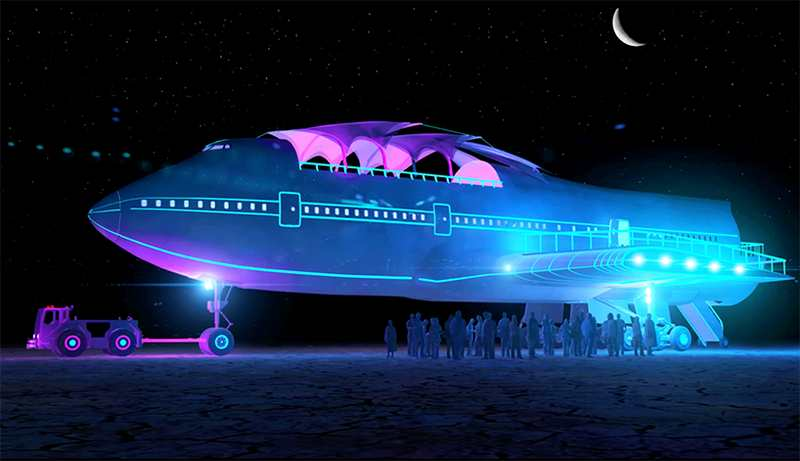 Converted Jumbo Jet lands at Burning Man (10)