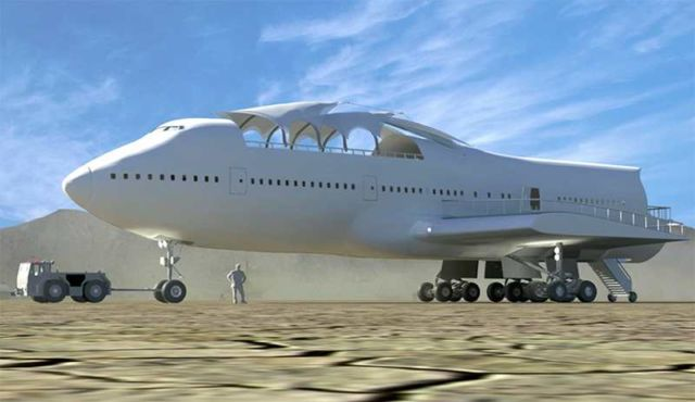 Converted Jumbo Jet lands at Burning Man (9)
