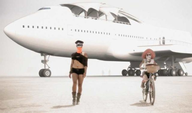 Converted Jumbo Jet lands at Burning Man (8)