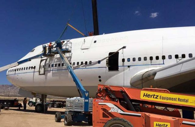 Converted Jumbo Jet lands at Burning Man (5)