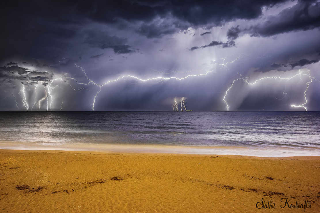 Lightning Display above the Ionian Sea  1