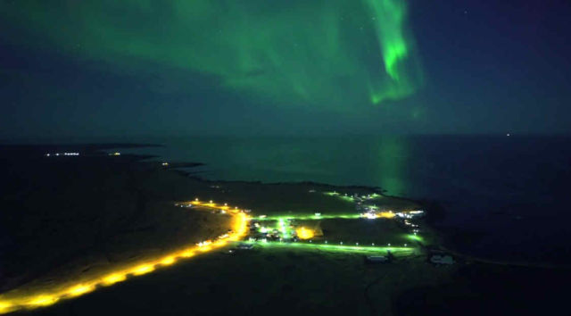 Northern Lights shot with a Drone (1)