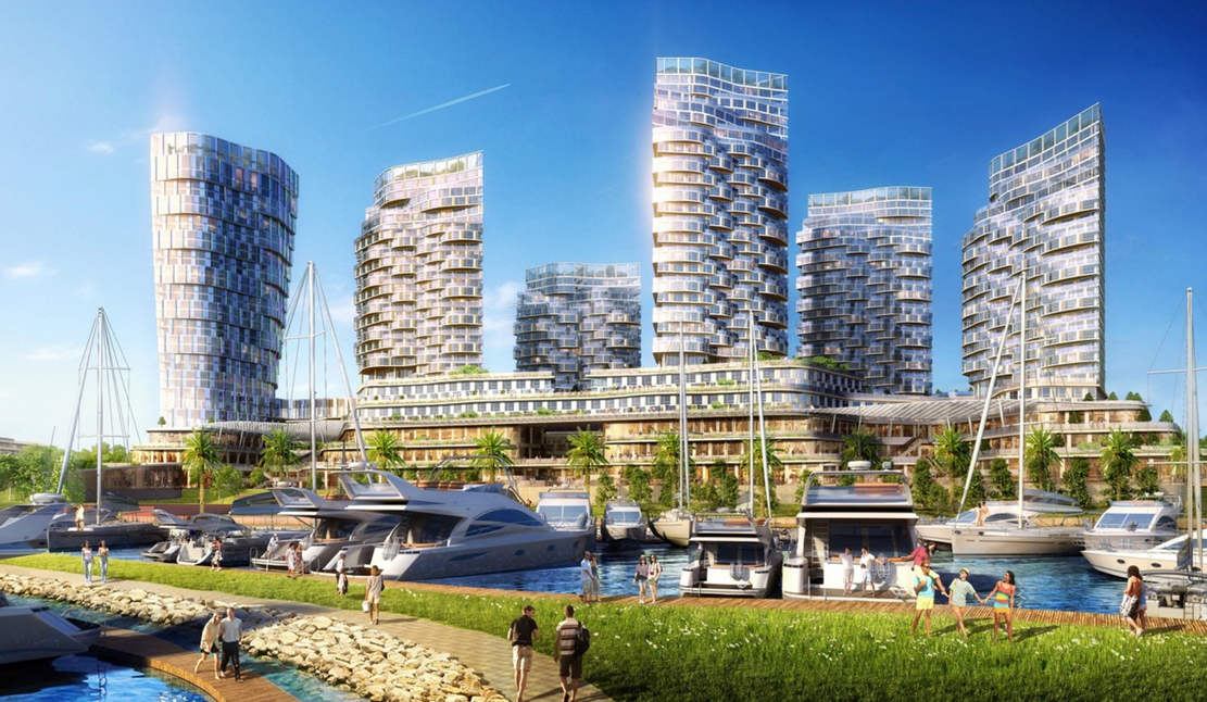 The Pearl of Istanbul marina composed of man-made islands (1)