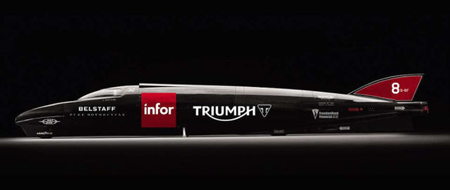 Triumph's Rocket Streamliner target 400 mph at Bonneville (1)