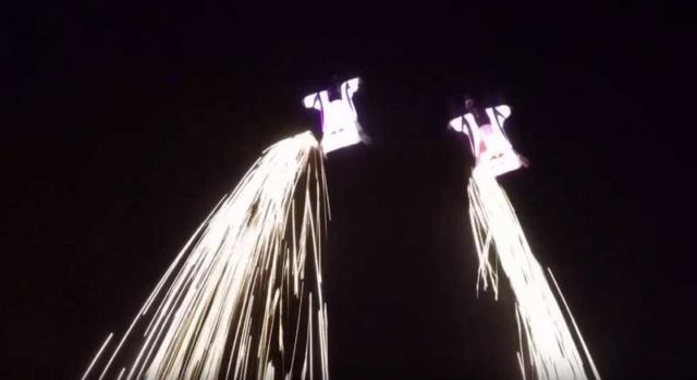 Wingsuit Flying Among the Shooting Stars (2)