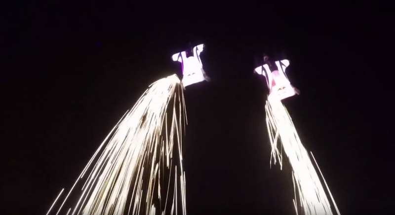 Wingsuit Flying Among the Shooting Stars