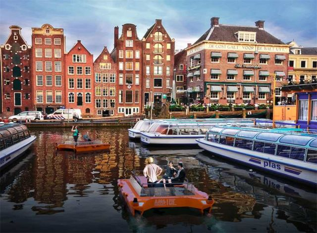 Autonomous boats to sail on the Amstel river