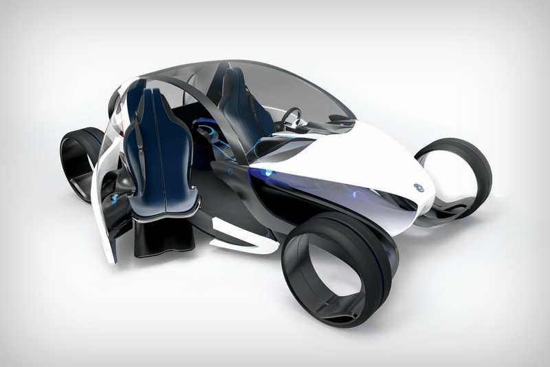 E- legance futuristic electric car (6)