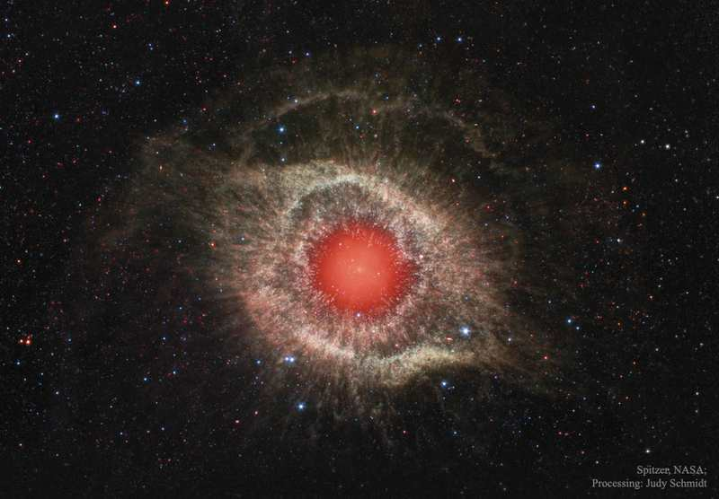 Helix Nebula in Infrared