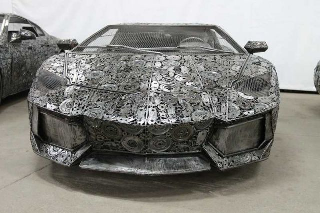 Iconic Cars created from Recycled Metals (5)