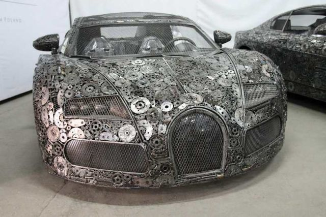 Iconic Cars created from Recycled Metals (4)