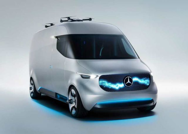 Mercedes unveils Drone-equipped Delivery Van