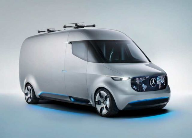 Mercedes unveils Drone-equipped Delivery Van (8)