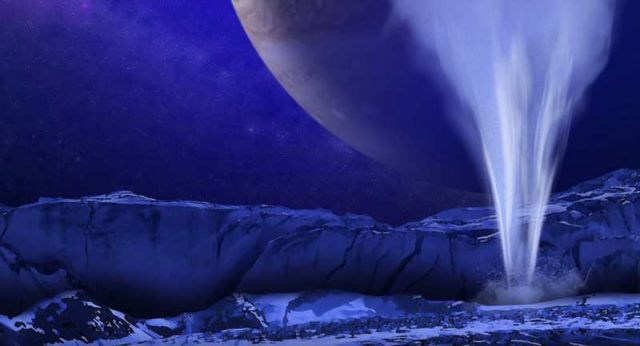Possible water plumes on icy moon Europa
