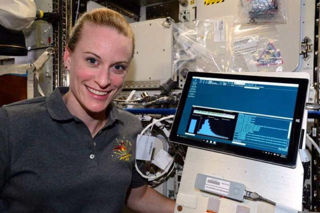 Sequencing DNA in Space
