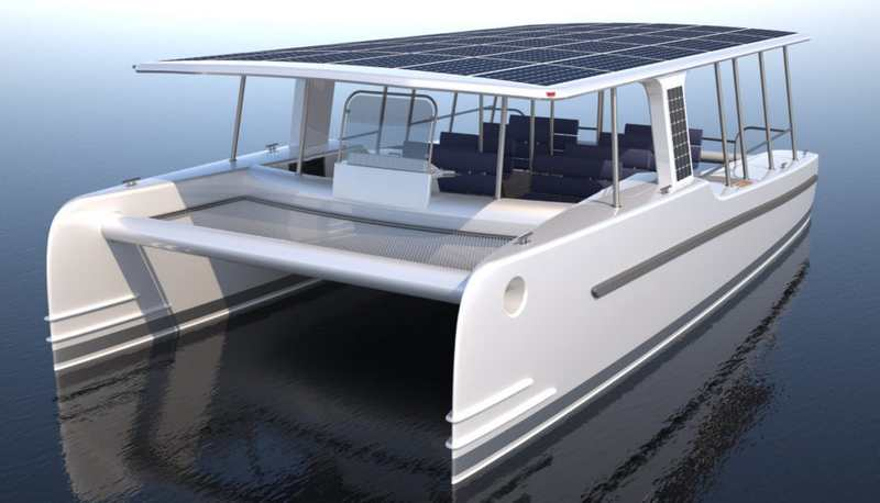 wordlessTech | SoelCat Solar-powered motor boat