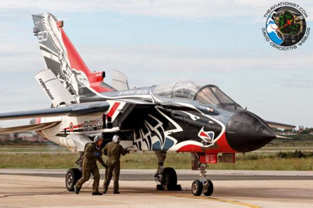 A Tornado Fighter in a special livery