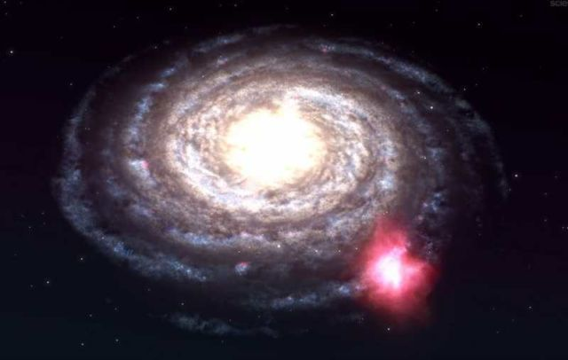 Mysterious Cloud on collision course with Milky Way