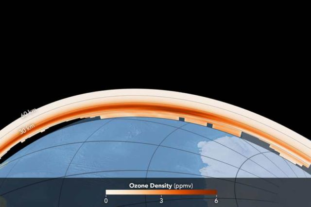 Ozone density acquired October 2, 2016