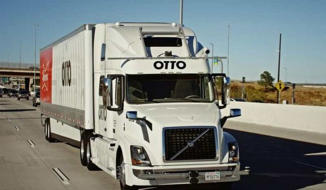 Otto and Budweiser self-driving-truck