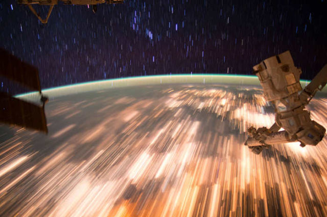 Star Trails from Low Earth Orbit