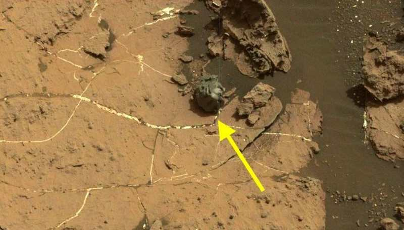 A metallic Meteorite on Mars