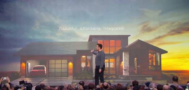 Elon Musk unveiled his brand new Solar Roof