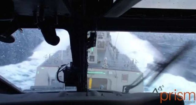 Helicopter Ship Landing in a massive Storm