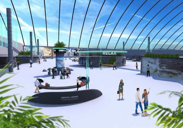 Inside the airport of 2040