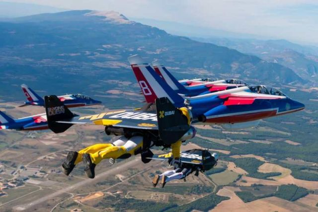 Jetmen in Formation with French Air Force Aerobatic team (2)