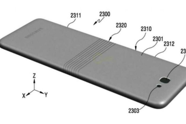 Samsung's patent of a Foldable phone