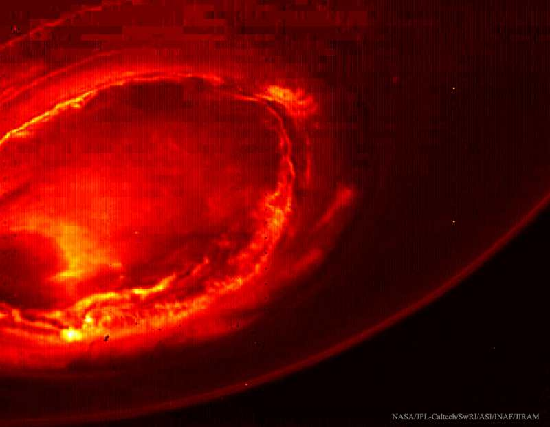 Aurora over Jupiter's South Pole