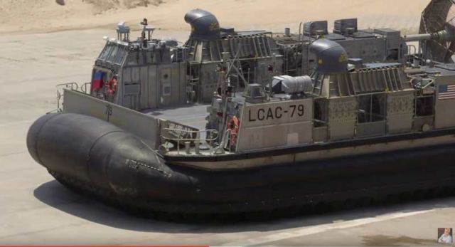 Jay Leno drives the Landing Craft Air Cushion