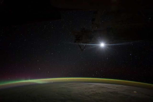 Moonrise on the International Space Station