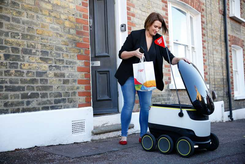 Just Eat takeaways with self-driving robot (4)