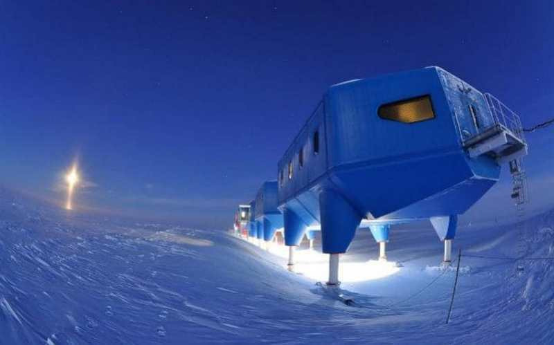 Relocation of Halley Research Station in Antarctica