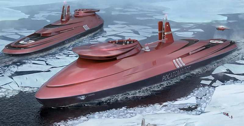 Russian giant Nuclear-Powered Ice-Breaker