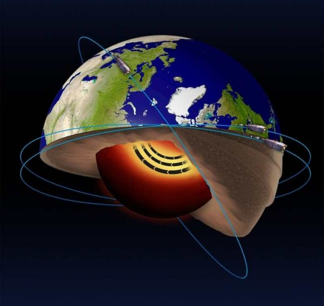 Accelerating Jet Stream in Earth's Core