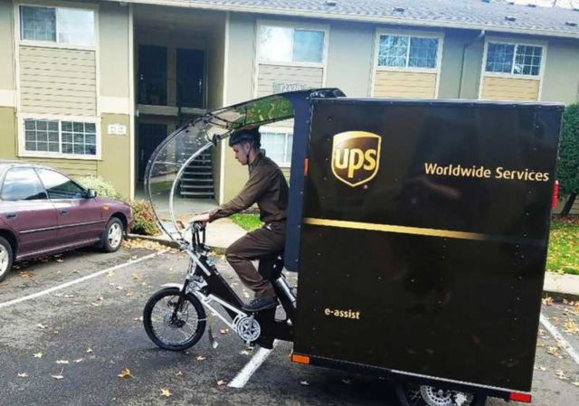 UPS unveils first e-bike delivery
