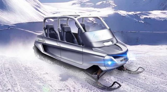 Whitefox four-seater Snowmobile