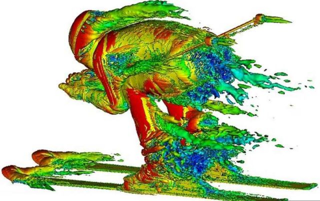 3D images unveil the airflow around Skiers