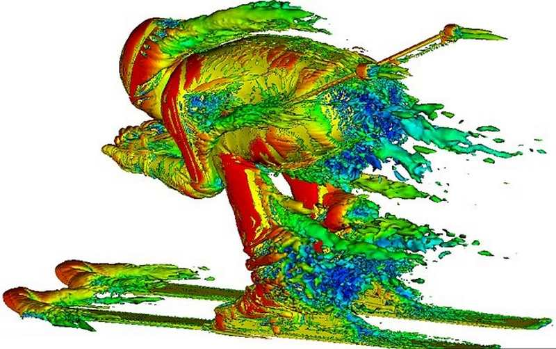 3D images unveil the airflow around Skiers (4)