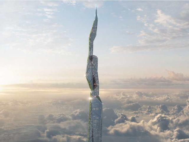 5-km-high Skyscraper