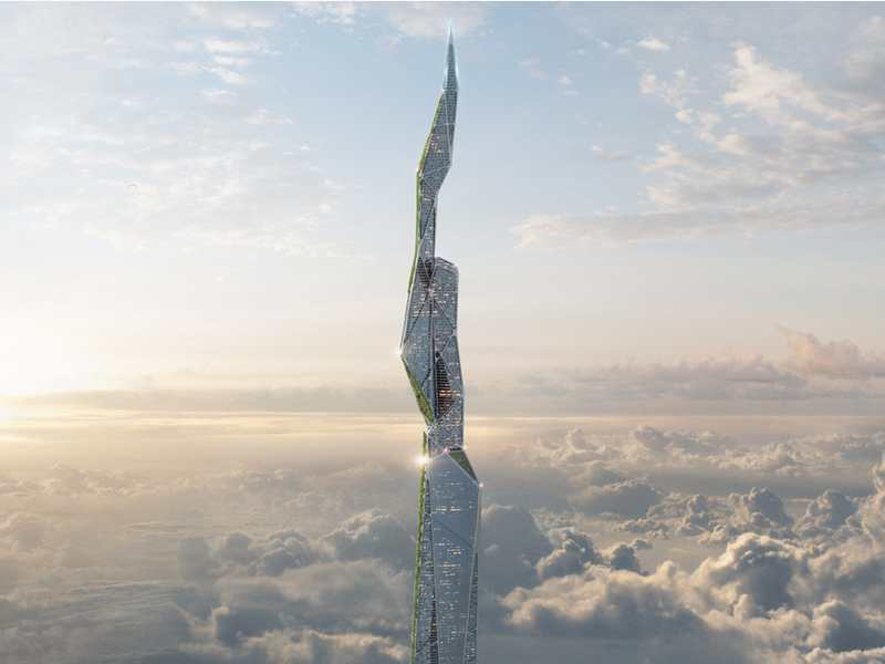 5-km-high Skyscraper