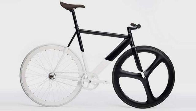 Black-White Fixie bicycle
