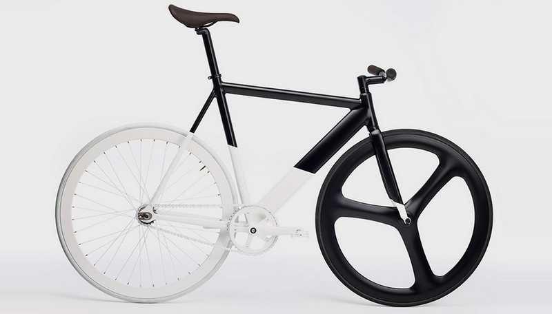 Black-White Fixie bicycle (5)
