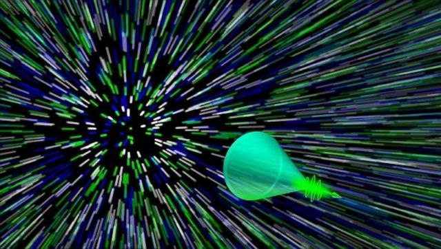 First recording of a Photonic Mach cone